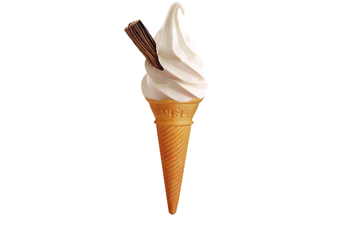 Soft Serve Cone with Cadbury Flake