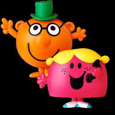 McDONALDS Mr Men Little Miss MR UPPITY Little MISS SUNSHINE Happy Toy MINT 2017