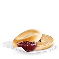 Toasted Bagel with Strawberry Jam